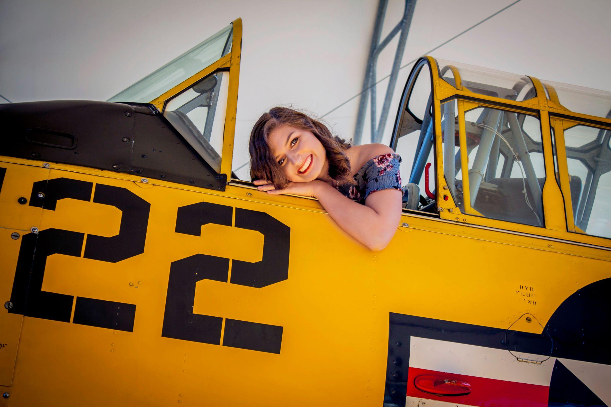 senior photography plane